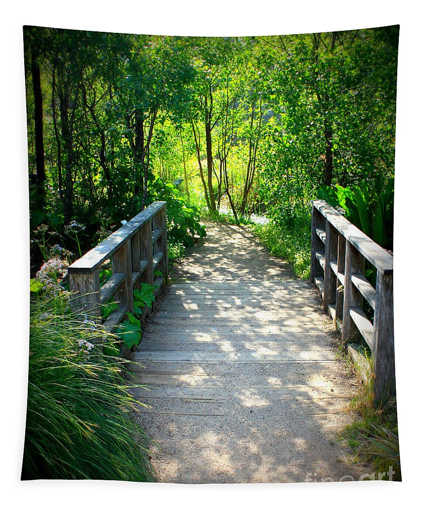 Garden Path Tapestry featuring the photograph A Walk In The Park by Carol Groenen