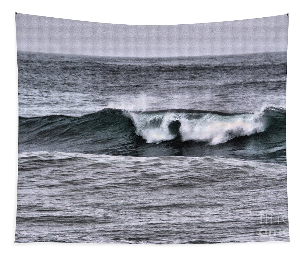 Ocean Wave Tapestry featuring the photograph A Wave On The Ocean by Jeff Swan