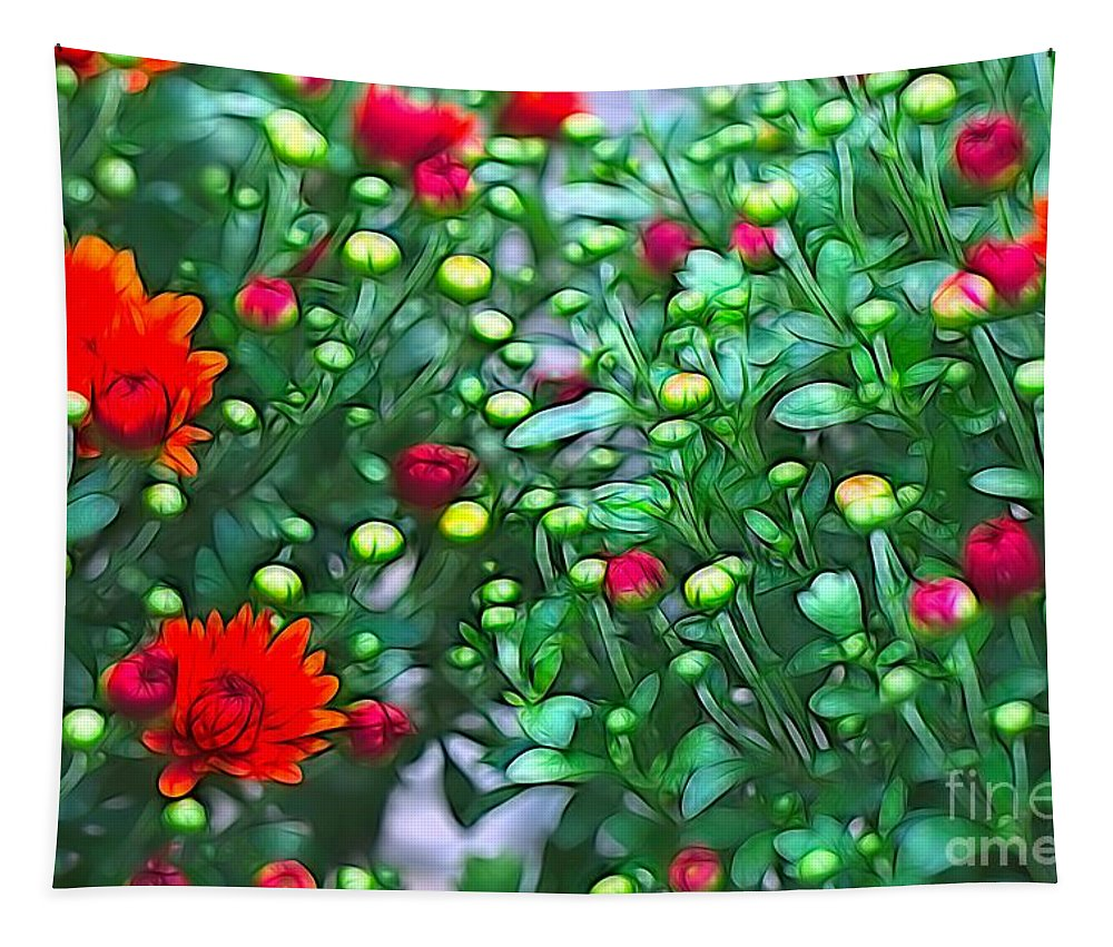 Photography Tapestry featuring the mixed media A Wonderland Fit For A Birthday by Debra Lynch