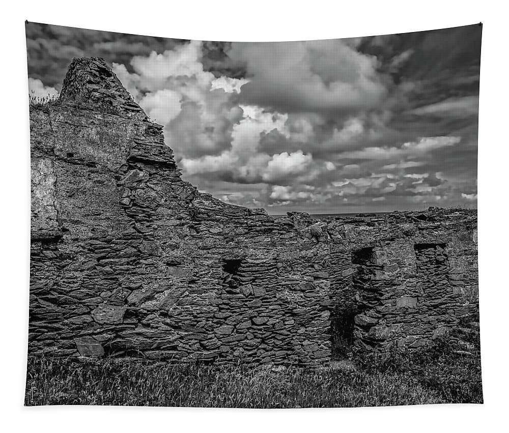 Black And Whiote Tapestry featuring the photograph Abandoned 5 Bw. by Leif Sohlman
