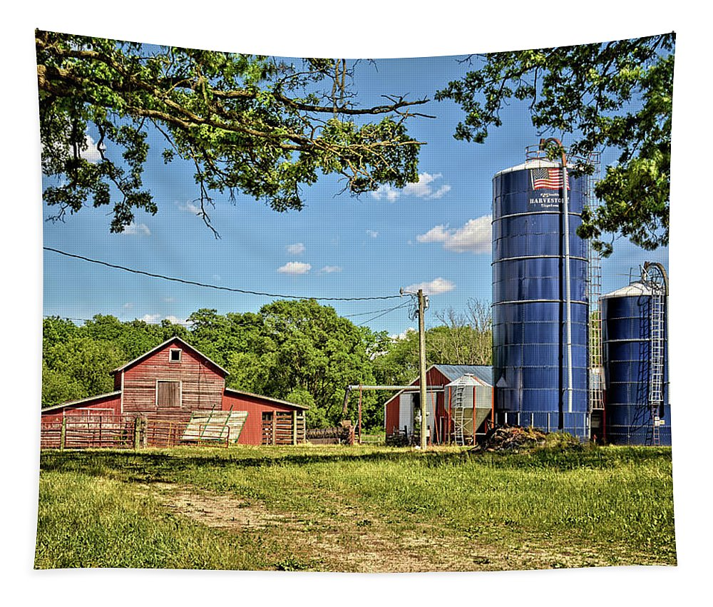 Farm Tapestry featuring the photograph Abandoned Spring Farm by Bonfire Photography