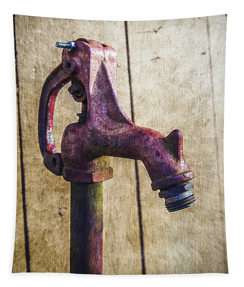 2d Tapestry featuring the photograph Abbott's Mill Water Spigot by Brian Wallace