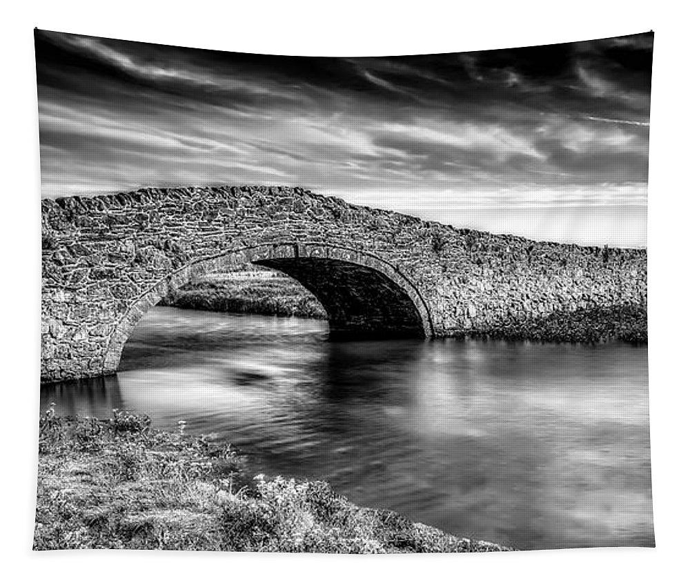 Aberffraw Bridge Tapestry featuring the photograph Aberffraw Bridge V2 by Adrian Evans