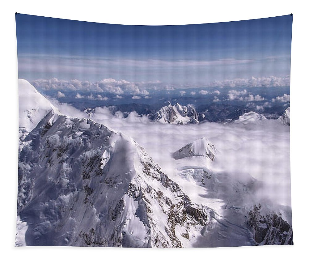 Above Denali Tapestry featuring the photograph Above Denali by Chad Dutson