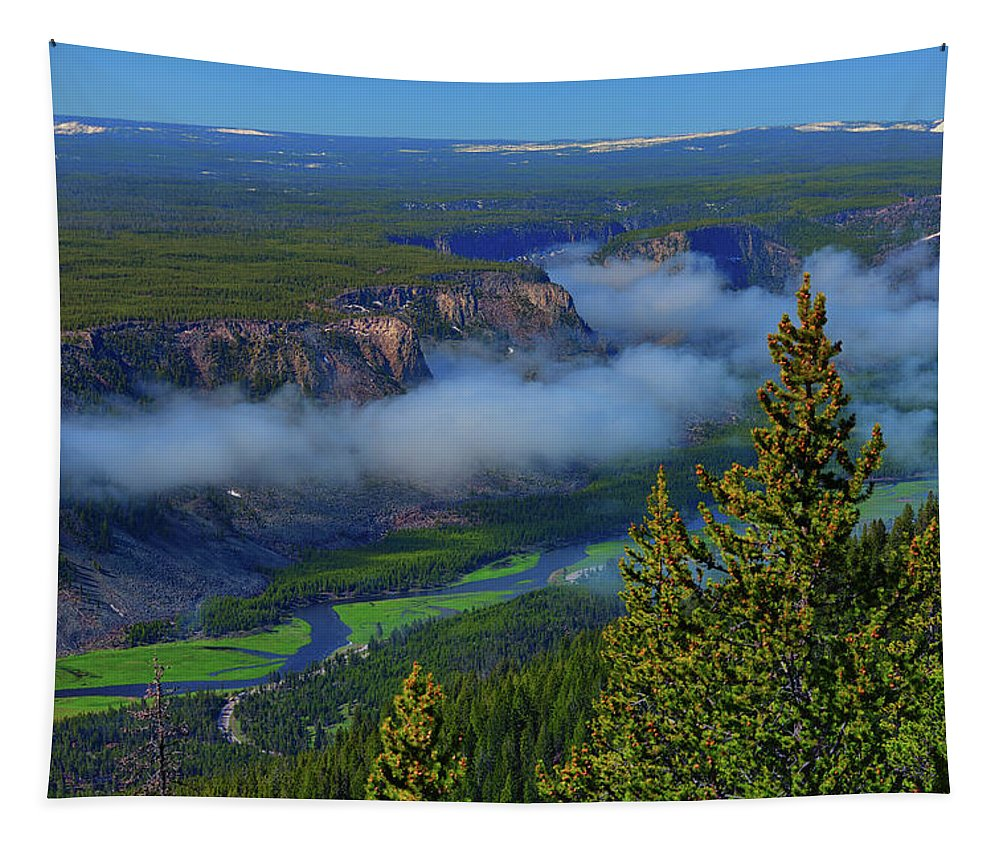 Yellowstone Tapestry featuring the photograph Above The Madison by Greg Norrell