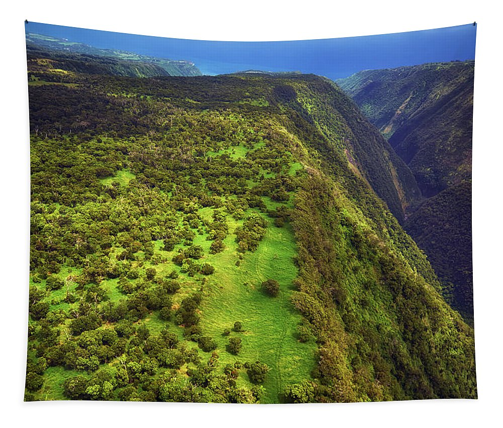 Hamakua Tapestry featuring the photograph Above The Valleys by Christopher Johnson