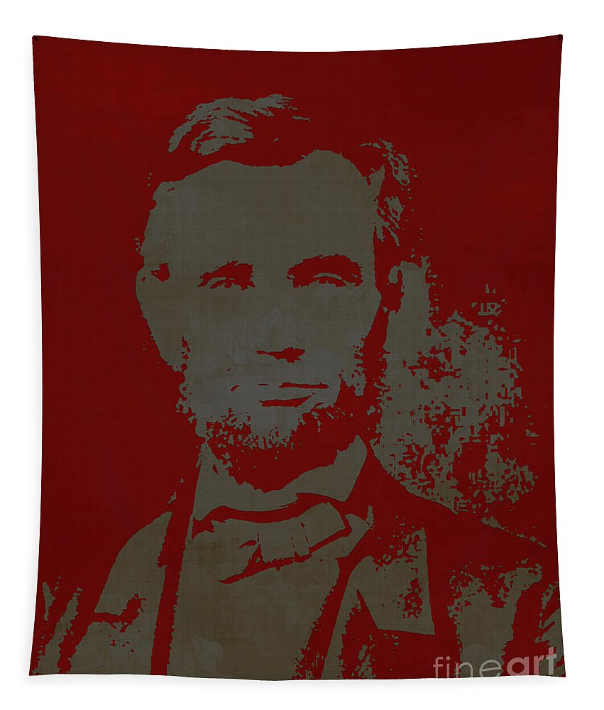 Abraham Lincoln Tapestry featuring the painting Abraham Lincoln The American President by Gull G