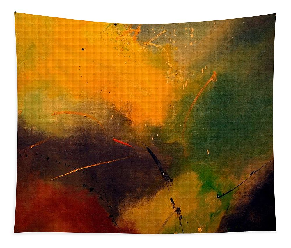 Abstract Tapestry featuring the painting Abstract 0046521 by Pol Ledent