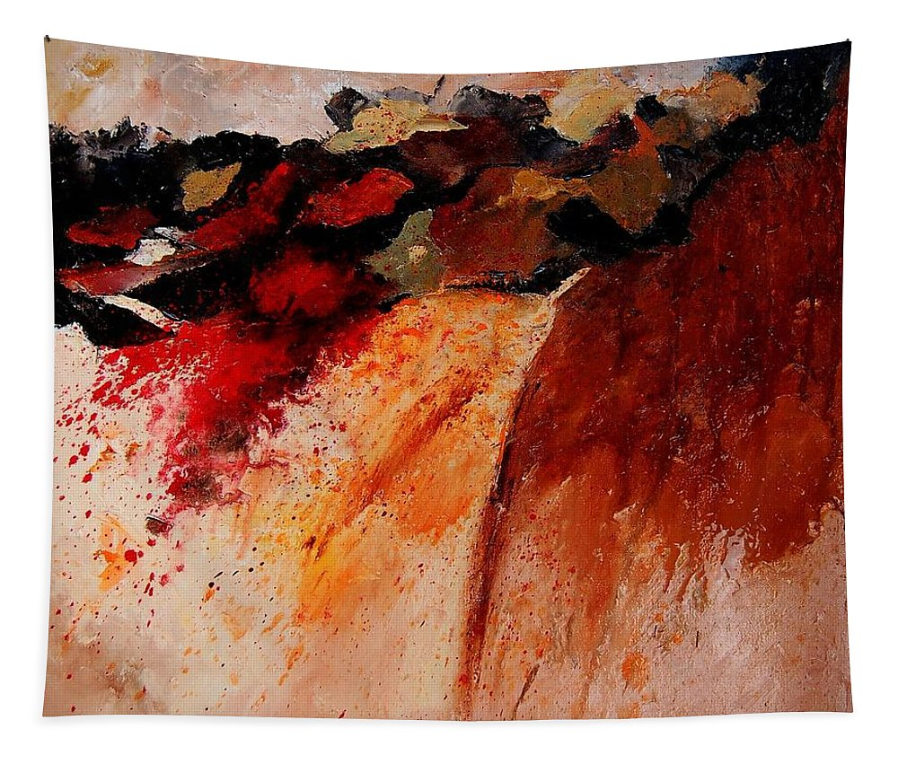 Abstract Tapestry featuring the painting Abstract 010607 by Pol Ledent