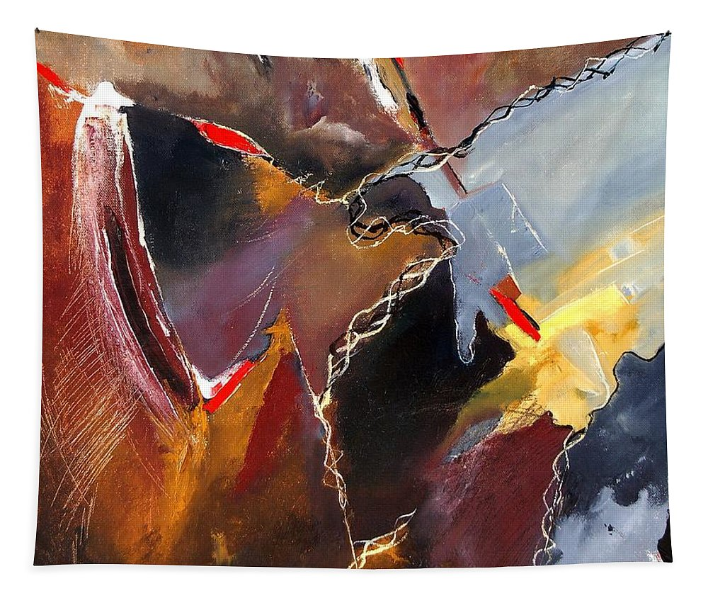 Abstract Tapestry featuring the painting Abstract 020606 by Pol Ledent