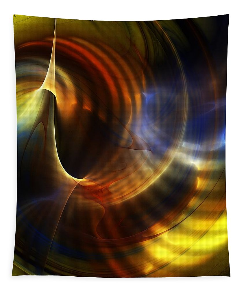Fine Art Tapestry featuring the digital art Abstract 040511 by David Lane