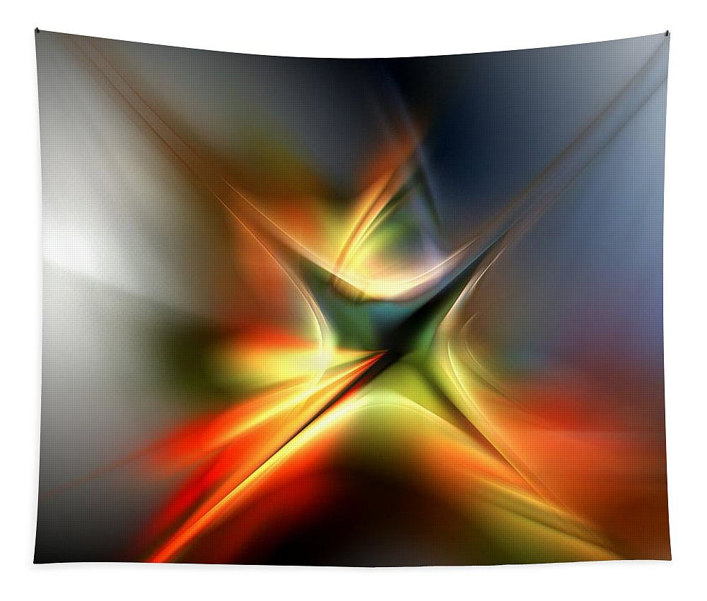 Digital Painting Tapestry featuring the digital art Abstract 060310a by David Lane
