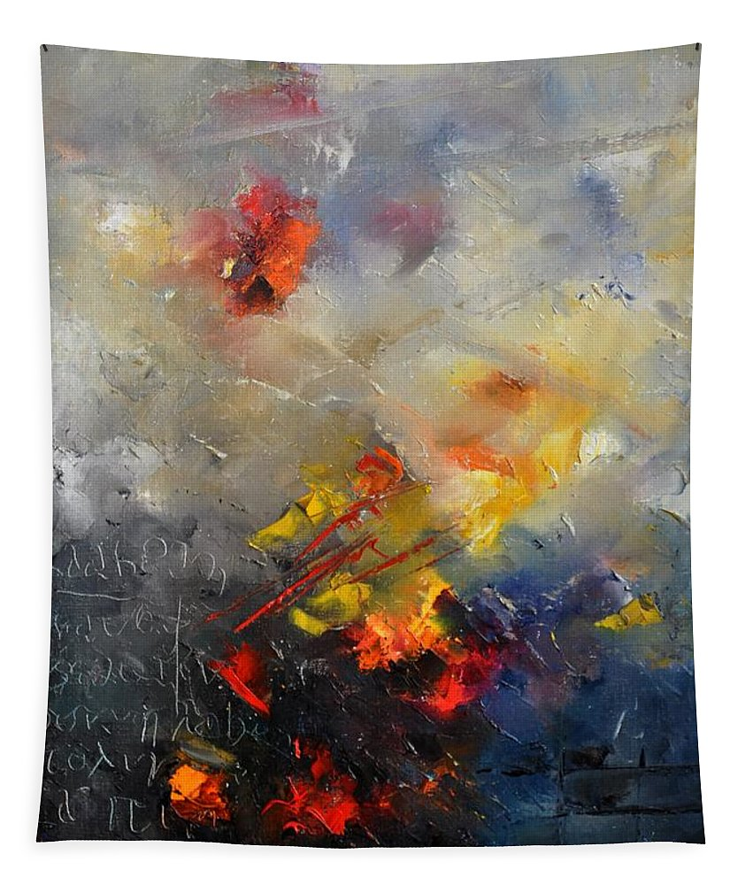 Abstract Tapestry featuring the painting Abstract 0805 by Pol Ledent