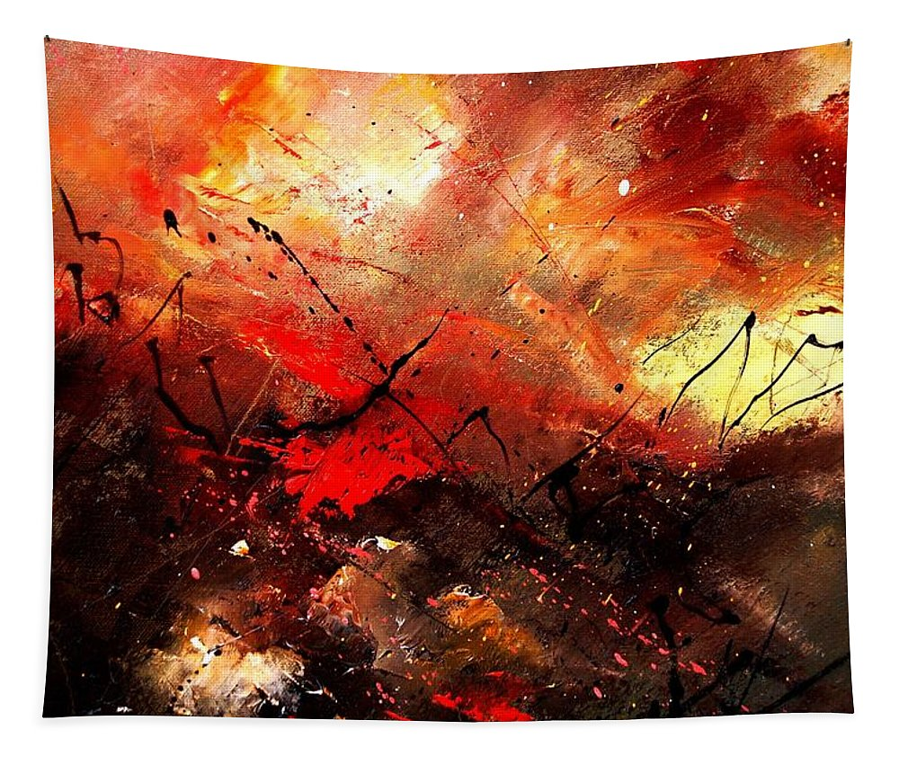 Abstract Tapestry featuring the painting Abstract 100202 by Pol Ledent