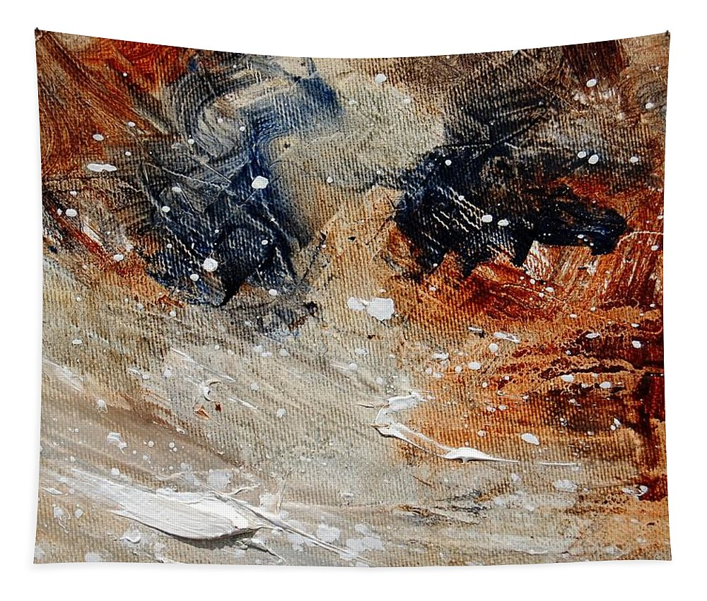 Abstract Tapestry featuring the painting Abstract 1236 by Pol Ledent