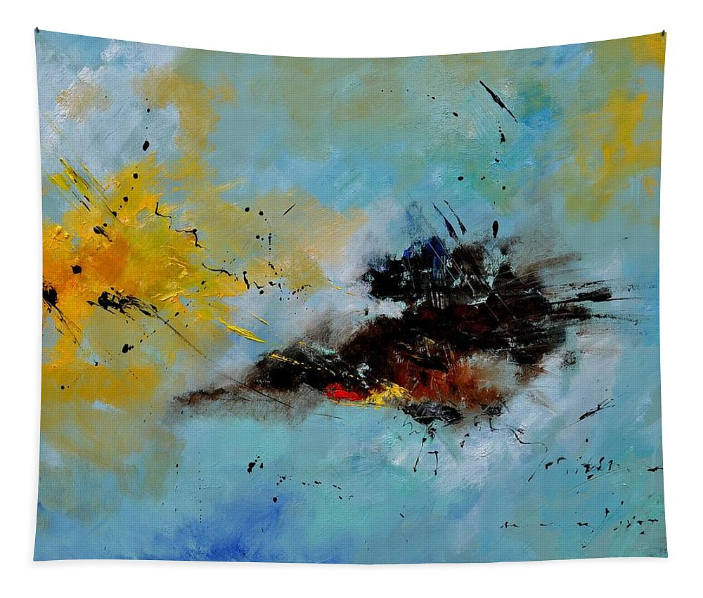 Abstract Tapestry featuring the painting Abstract 1811803 by Pol Ledent