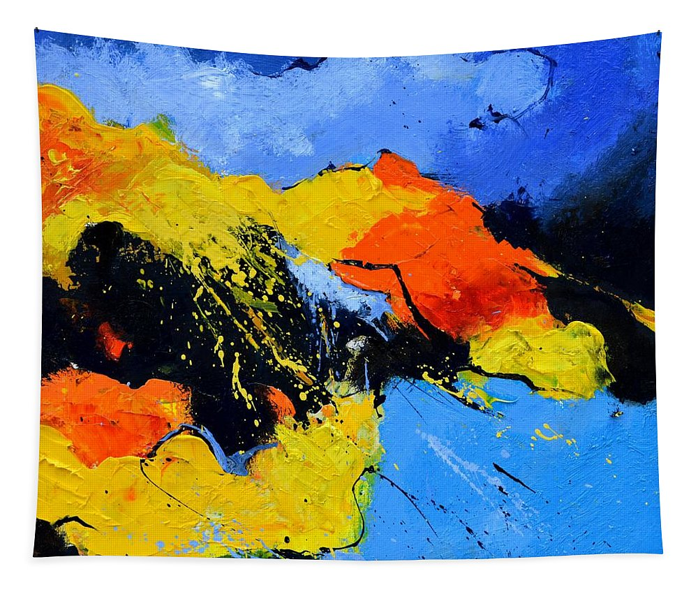 Abstract Tapestry featuring the painting Abstract 363604 by Pol Ledent