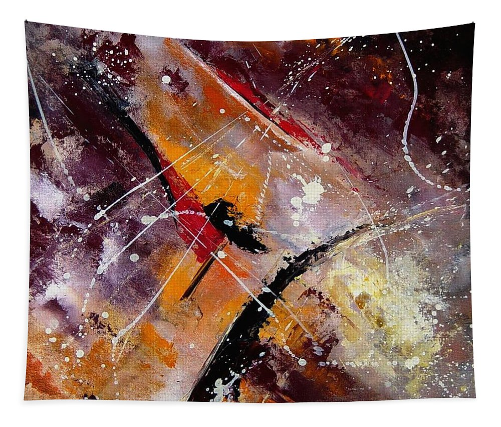 Abstract Tapestry featuring the painting Abstract 45 by Pol Ledent