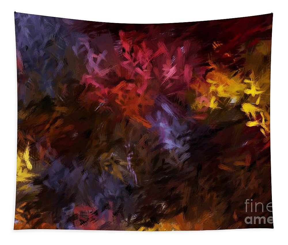 Abstract Tapestry featuring the digital art Abstract 5-23-09 by David Lane