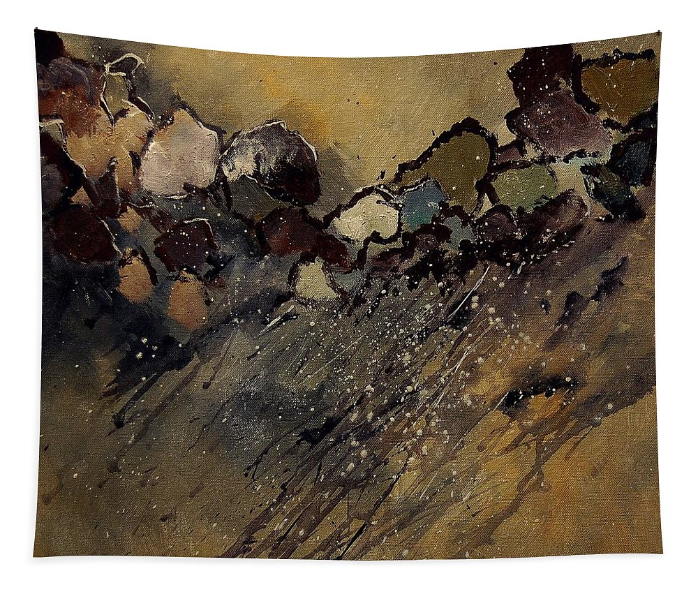 Abstract Tapestry featuring the painting Abstract 55901161 by Pol Ledent