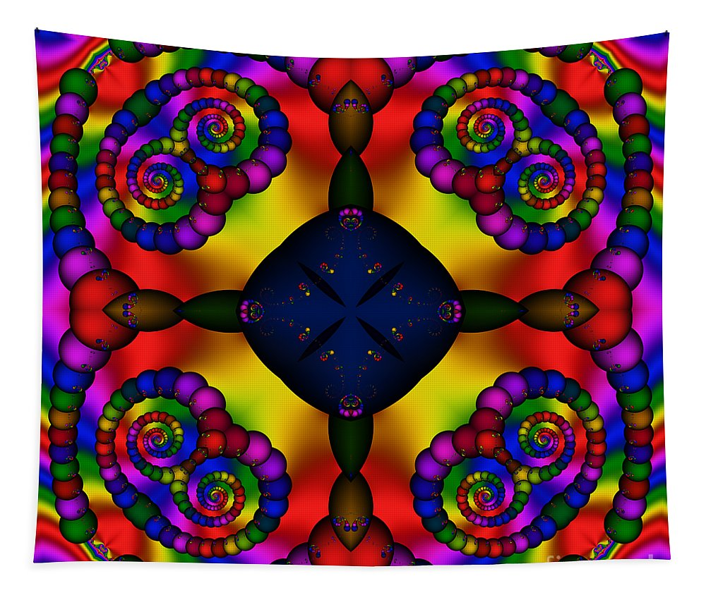 Abstract Tapestry featuring the digital art Abstract 650 by Rolf Bertram