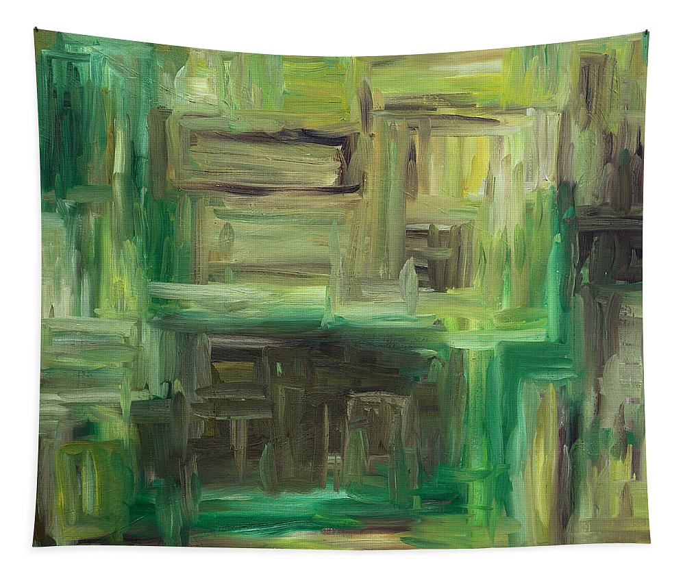Abstract Tapestry featuring the painting Abstract 742 by Patrick J Murphy