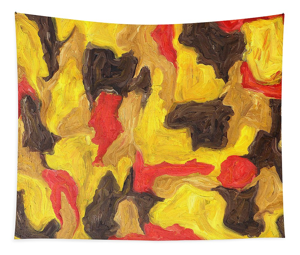 Abstract Tapestry featuring the painting Abstract 746 by Patrick J Murphy