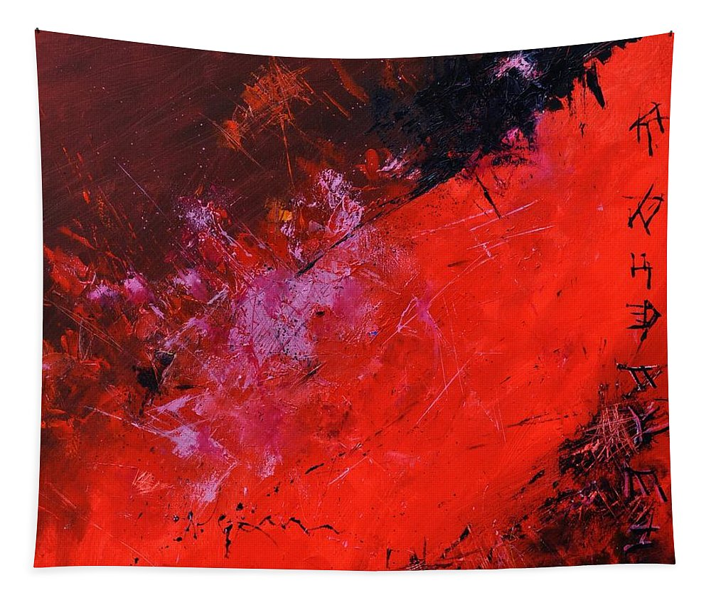Abstract Tapestry featuring the painting Abstract 88113013 by Pol Ledent