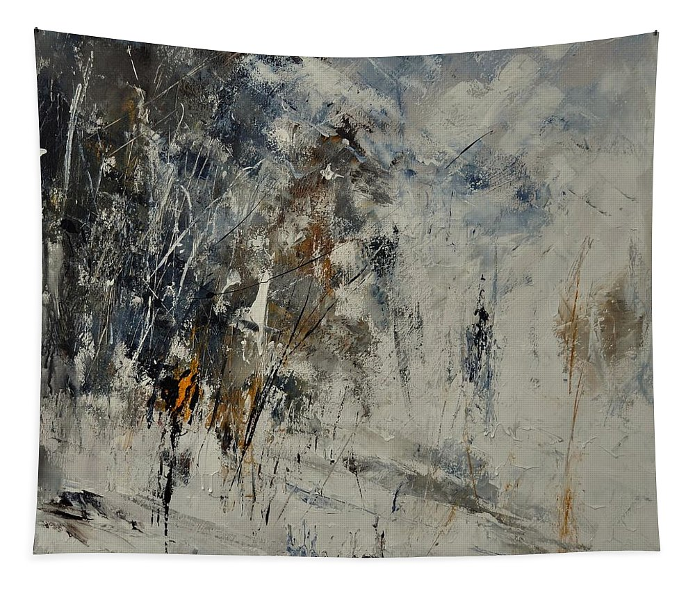 Abstract Tapestry featuring the painting Abstract 8821207 by Pol Ledent