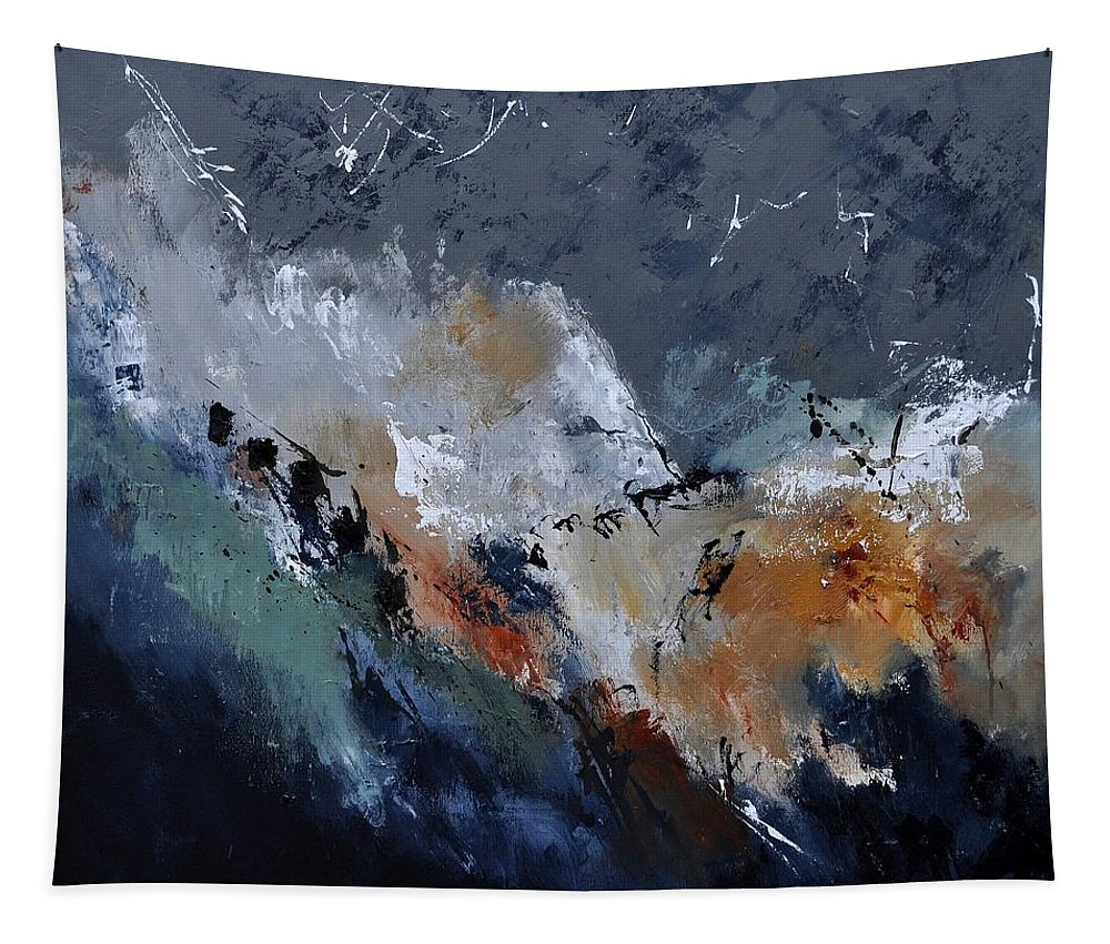 Abstract Tapestry featuring the painting Abstract 8821901 by Pol Ledent