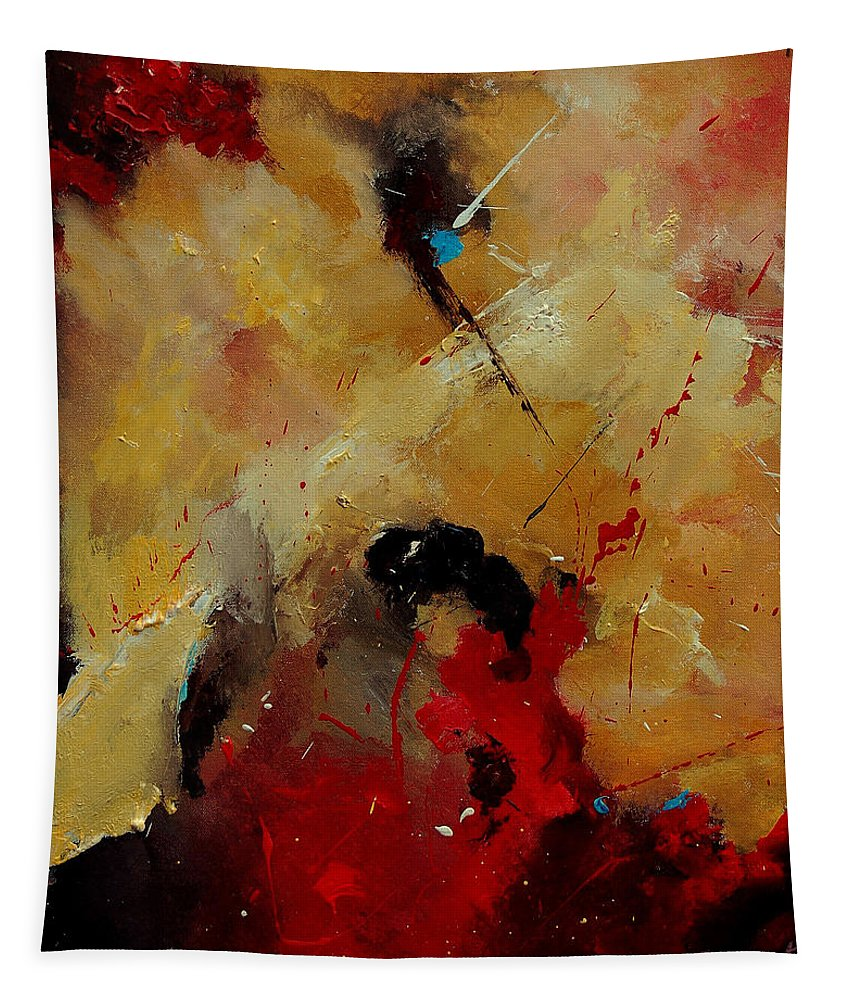 Abstract Tapestry featuring the painting Abstract 901156 by Pol Ledent