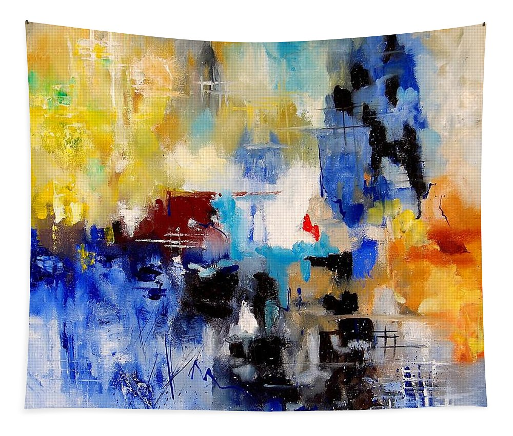Abstract Tapestry featuring the painting Abstract 905003 by Pol Ledent