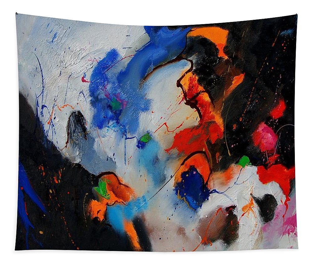 Abstract Tapestry featuring the painting Abstract 905060 by Pol Ledent