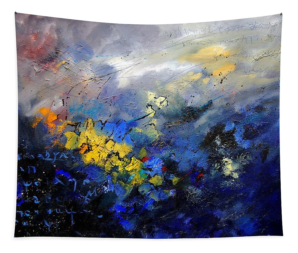 Abstract Tapestry featuring the painting Abstract 970208 by Pol Ledent