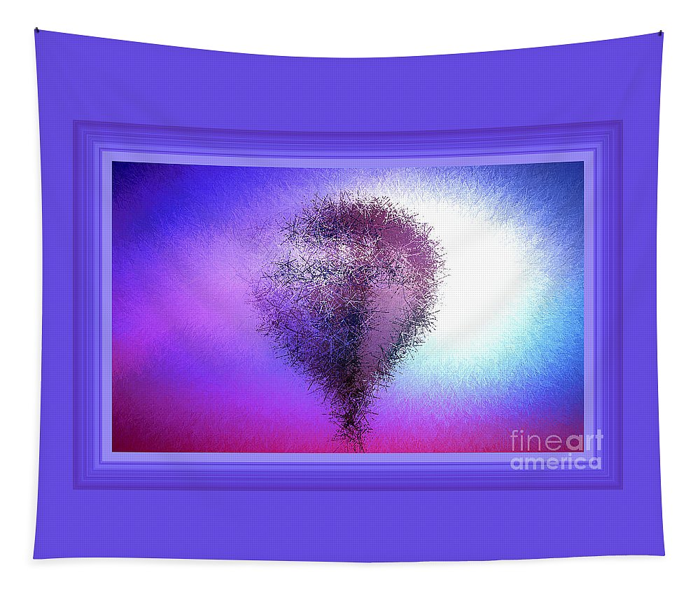 Purple Tapestry featuring the photograph Abstract Balloon In Sky by Debra Lynch
