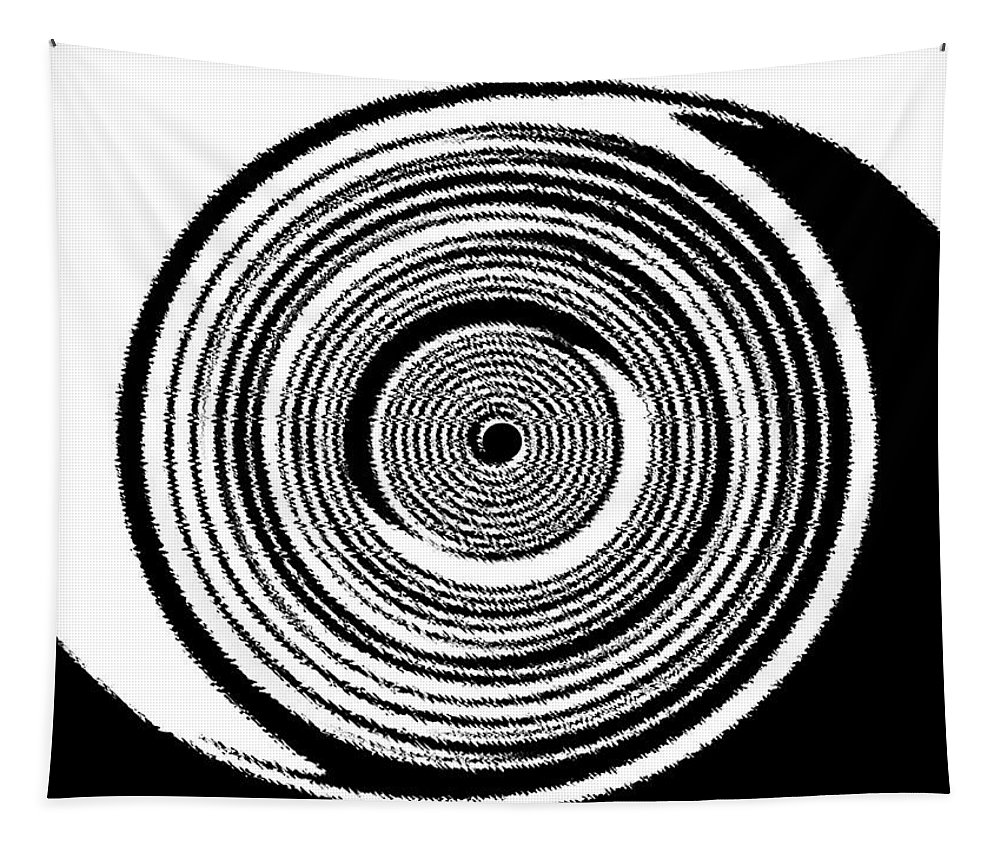 Abstract Tapestry featuring the digital art Abstract Clock Spring by Will Borden