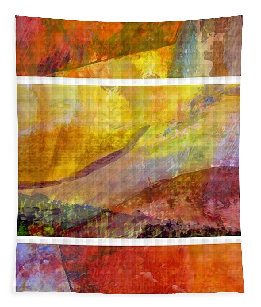 Abstract Collage Tapestry featuring the painting Abstract Collage No. 4 by Michelle Calkins