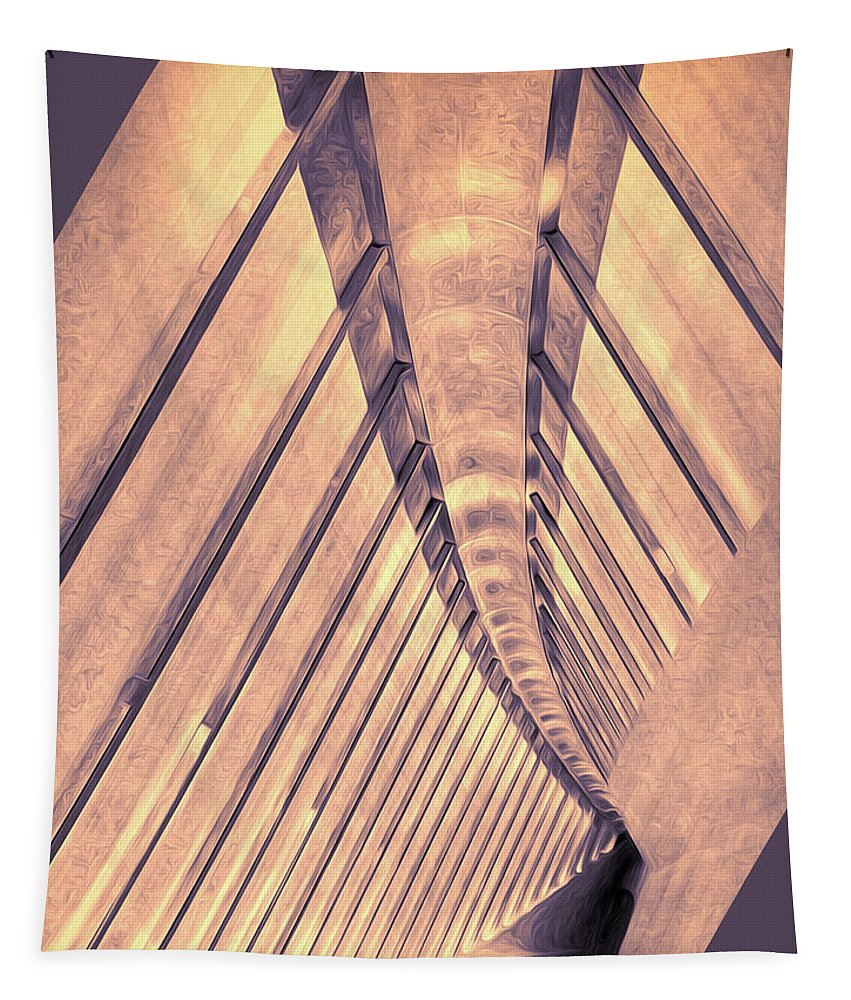 Architecture Tapestry featuring the digital art Abstract Corridor Architecture by Phil Perkins