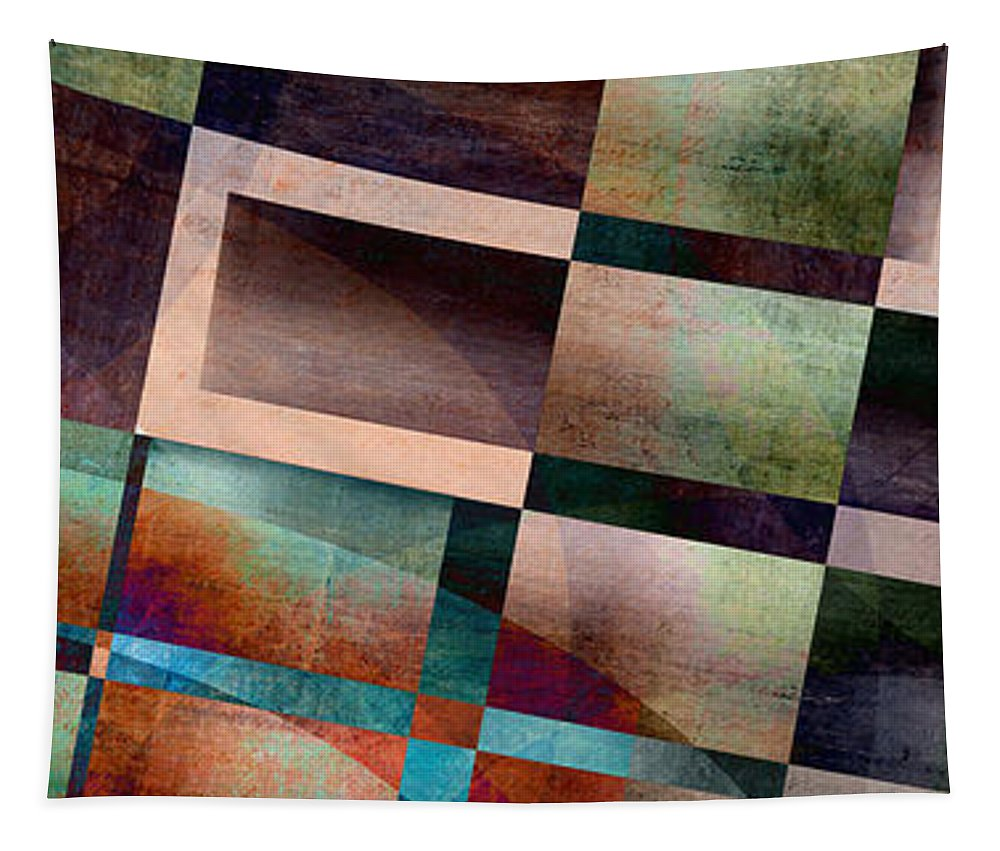 Abstract Tapestry featuring the photograph Abstract Lines And Shapes by Edward Fielding