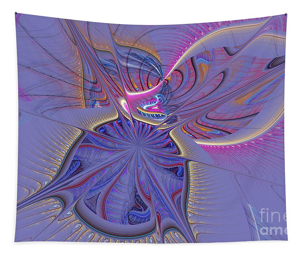 Digital Tapestry featuring the digital art Abstract Of Cells by Deborah Benoit