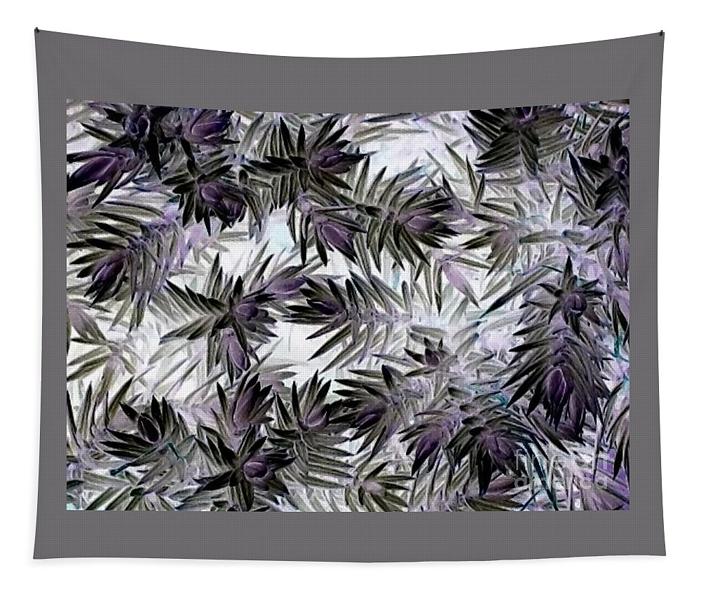 Abstract Tapestry featuring the photograph Abstract Of Low Growing Evergreen Shrub by Debra Lynch
