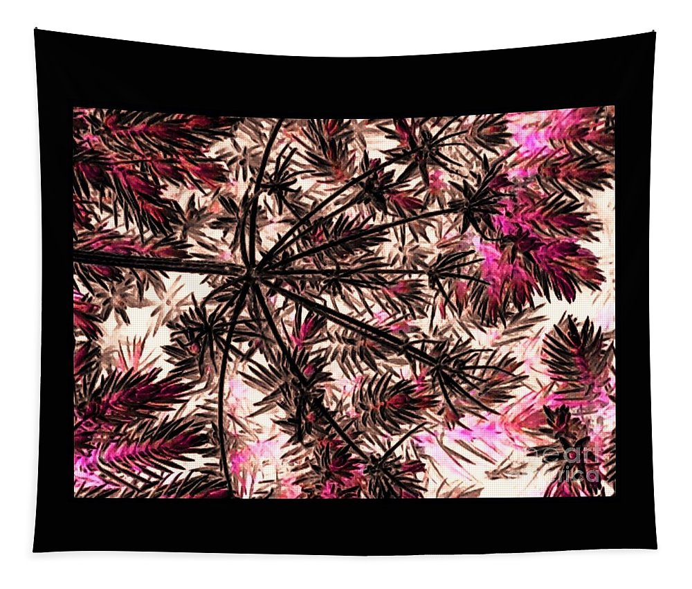 Abstract Tapestry featuring the photograph Abstract Of Low Growing Shrub by Debra Lynch