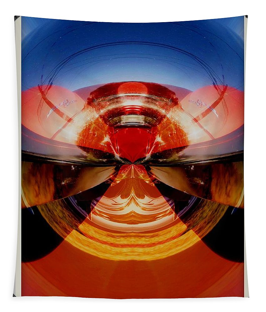 Cars Tapestry featuring the photograph Abstract Old Car Spare Tire by Karl Rose