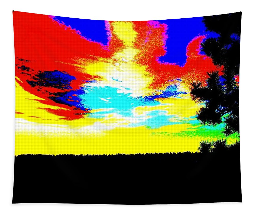 Abstract Tapestry featuring the digital art Abstract Sky by Will Borden