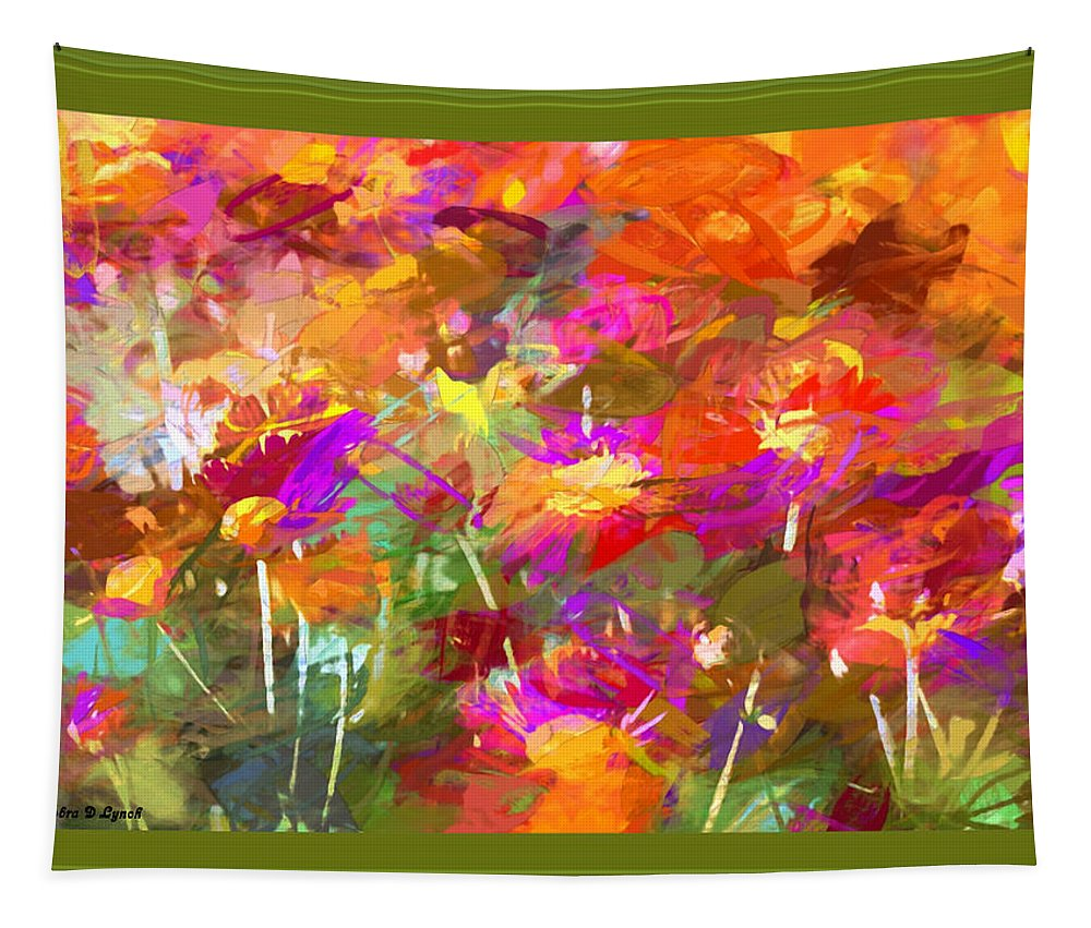 Abstract Tapestry featuring the mixed media Abstract Thought Processes by Debra Lynch