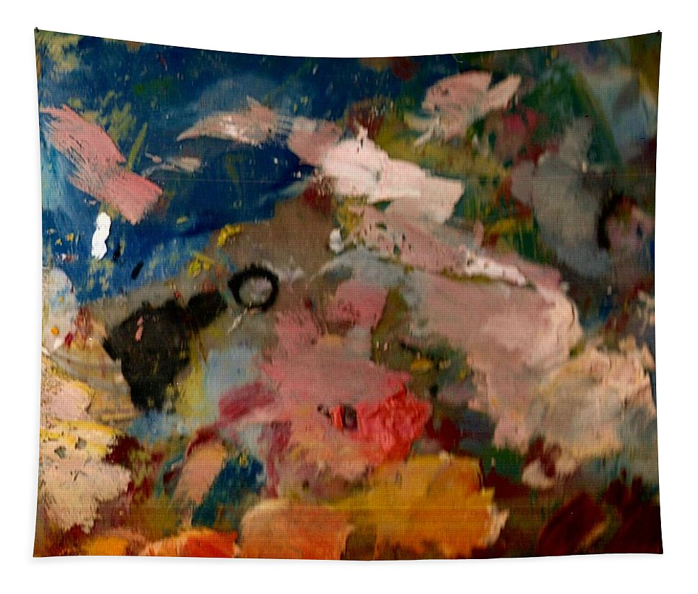 Painting Tapestry featuring the painting Acryl Color Abstract by Pepita Selles