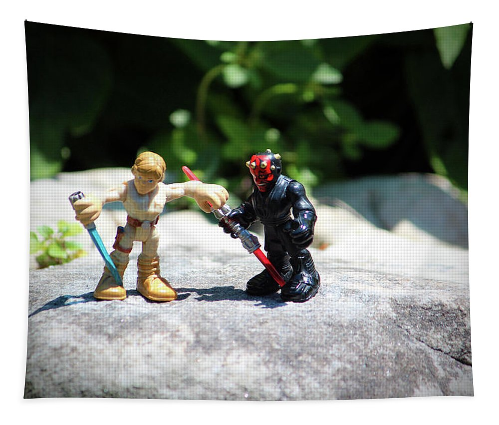 Figurine Tapestry featuring the photograph Action Figures by Cynthia Guinn