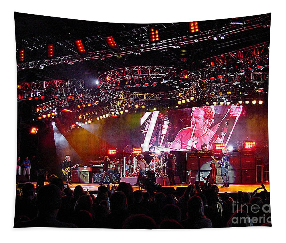Aerosmith Tapestry featuring the photograph Aerosmith-00157 by Gary Gingrich Galleries
