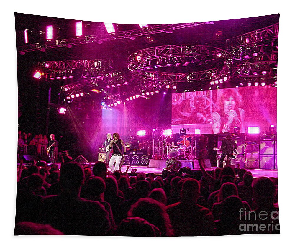 Aerosmith Tapestry featuring the photograph Aerosmith-00192 by Gary Gingrich Galleries