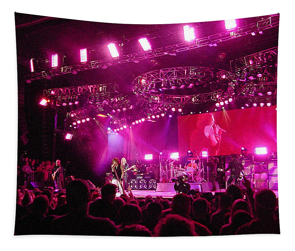 Aerosmith Tapestry featuring the photograph Aerosmith-00194 by Gary Gingrich Galleries